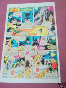 1975 Hostess Twinkies Ad Batman & The Mummy