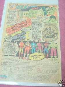 1980 Heroes World Ad Hulk Utility Belt Superhero Dolls