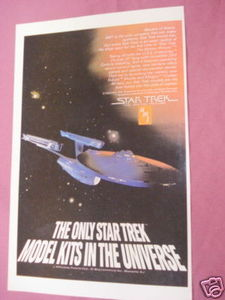 1979 Ad AMT Models Star Trek The Motion Picture