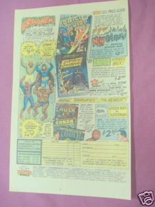 1980 Heroes World Ad Marvel Vinyl Figures, Price Guide