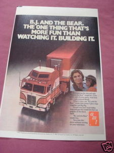 1981 Ad B.J. and the Bear AMT Truck Model Kit
