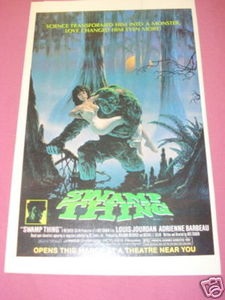 1981 Color Movie Ad Swamp Thing Adrienne Barbeau