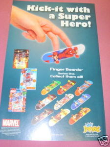 2008 Ad Marvel Finger Boards by Imperial Spider-Man