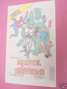 1988 Ad Marvel Action Universe Cartoons Dino-Riders