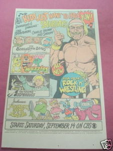 1985 CBS Saturday Morning Cartoons Ad Hulk Hogan