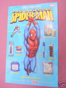 2007 Ad Spider-Man Items Pens, Paddle Ball, Stickers