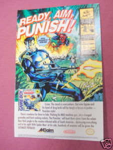 1991 Ad The Punisher The Ultimate Payback Video Game