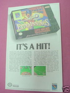 1991 Ad Extra Innings Video Game
