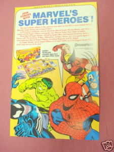 1992 Ad Marvel Superheroes Game by Pressman