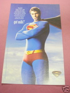 2006 Ad Superman Returns Got Milk? Brandon Routh