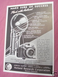 1947 Ad Heiland Model K Flash Equipment Synchronizer