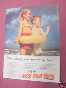 1949 Ad Ansco Color Film Binghamton, N. Y.