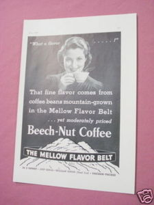 1939 Ad Beech-Nut Coffee What A Flavor...!