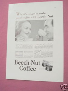 1937 Ad Beech-Nut Coffee The Right Grind of Coffee