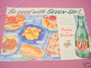 1955 Ad So Good With Seven-Up