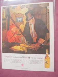 1962 Color Ad White Horse Cellar Blended Scotch Whiskey