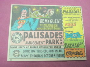 1968 Superman DC Comics Palisades Amusement Park Ad