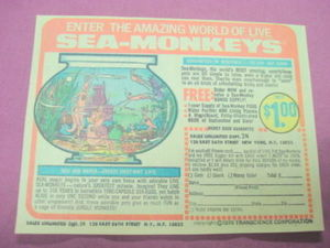 1970 Sea Monkeys Ad Transcience Corporation