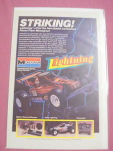 1985 Ad Monogram 1/10th Scale Lightning Radio Control