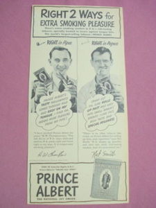 1940s/50s Ad Prince Albert Tobacco Right 2 Ways