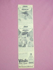 1940s/50s Ad Vitalis Hair The 60-Second Workout