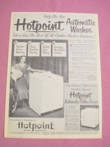 1951 Ad Hotpoint Automatic Washer and Clothes Dryer