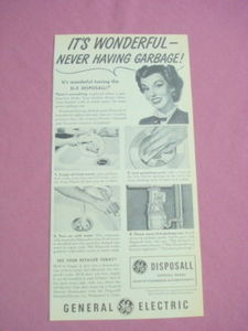 1948 G.E. Ad General Electric Disposall