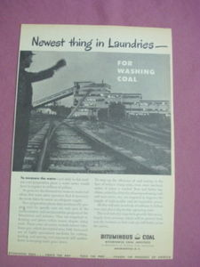 1949 Ad Bituminous Coal Institute For Washing Coal