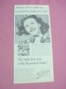 1940s Pepsodent Tooth Paste Ad Madeline Swenson