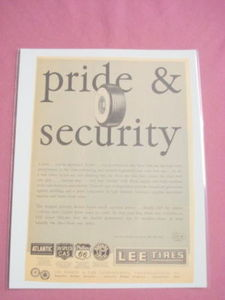 1940s/50s Lee Tires Ad Pride & Security