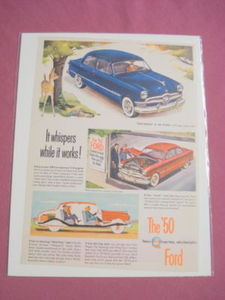 1950 Ford Ad It Whispers While It Works!
