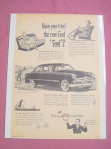 1949 Ford Ad Have You Tried the New Ford Feel?