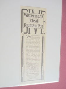 1914 Waterman's Ideal Fountain Pen Ad