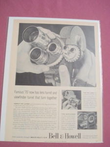 1956 Ad Bell & Howell 70-DR 8mm Movie Projector