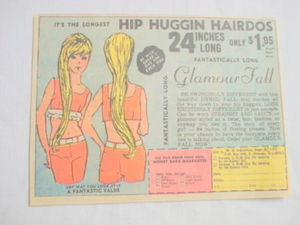 1969 Ad Dynel Fall For Hip Hggin Hairdos