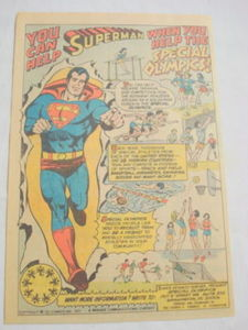 1977 Superman Ad Volunteer For Special Olympics