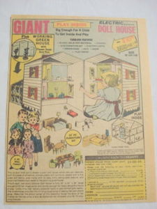 1979 Ad Giant Electric Doll House from Honor House