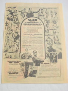 1975 Ad Joe Weider Sixteen Muscle Building Courses