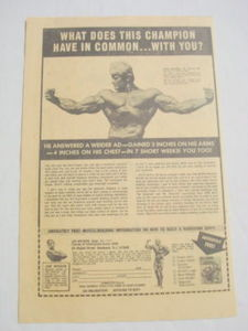 1975 Ad Joe Weider Muscle Building with Dave Draper