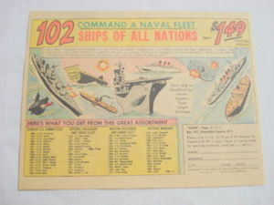 1970 Ad 102 Ships of All Nations Toy Set