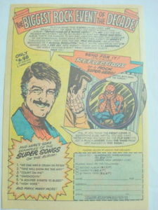 1976 Ad Spider-Man Record Reflections of a Super-Hero