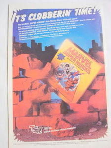 1984 Ad Marvel Super Heroes TSR Role-Playing Game