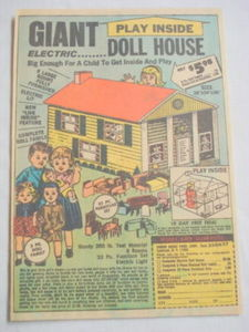 1969 Ad Giant Electric Doll House from Honor House