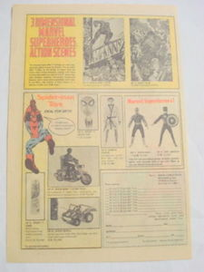 1974 Ad Spider-Man Marvel Action Scene, Figures, Toys