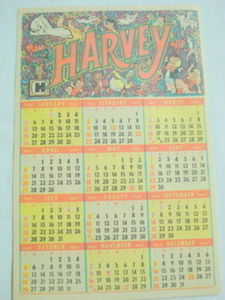 1969 Harvey Comics Calendar Ad Casper, Richie Rich