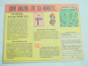 1968 Ad Grow Amazing Live Sea Monkeys Unicorn House