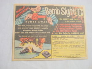 1962 Ad Complete Bombsight Set 5 Star Toys