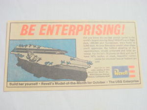 1969 Ad Revell Models USS Enterprise Aircraft Carrier