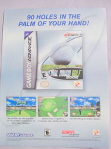 2001 Ad Video Game Final Round Golf 2002 by Konami