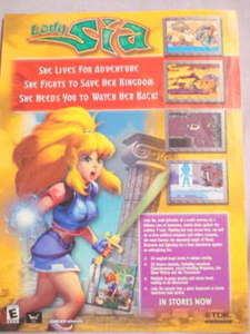 2001 Ad Video Game Lady Sia by TDK